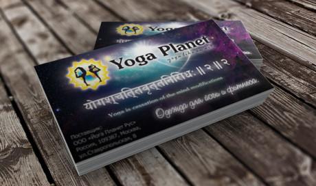 Визитка Yoga Planet