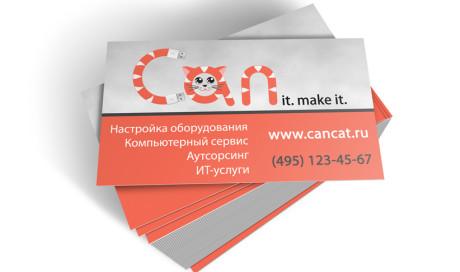 Дизайн визитки CanCat