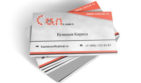 Дизайн перс. визитки CanCat